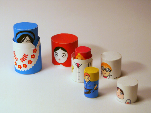 Blog Paper Toy papertoys Matryoshka dolls pic1 Matryoshka dolls papertoys (x6)