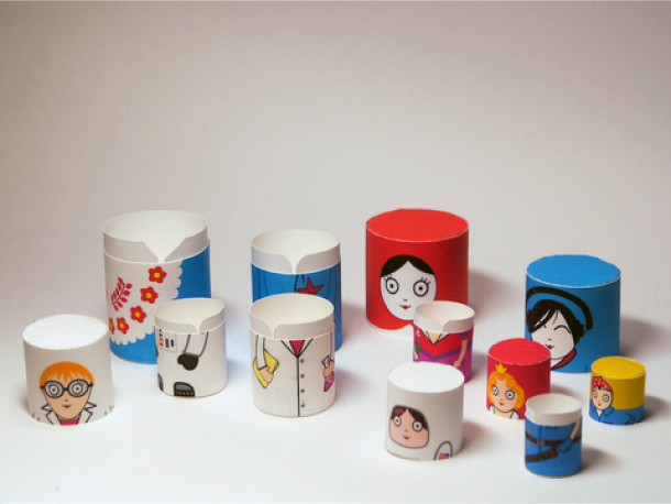 Blog Paper Toy papertoys Matryoshka dolls pic5 Matryoshka dolls papertoys (x6)