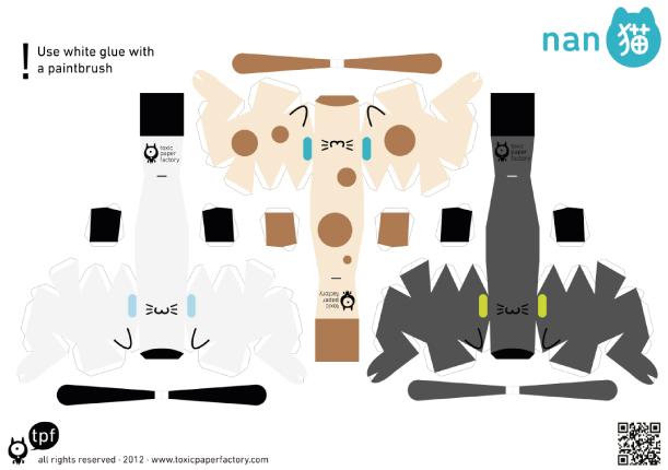 Blog Paper Toy papertoys Nanoneko templates 456 preview Nanoneko papertoys de TPF (x 6)