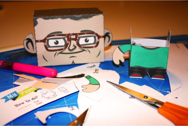 Blog Paper Toy My Paper Face teaser MPF My Paper Face Cartoon Yourself!