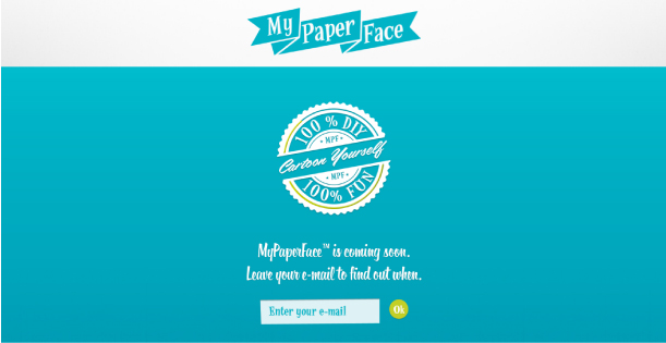 Blog Paper Toy My Paper Face website teaser My Paper Face   Cartoon Yourself!