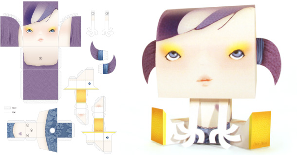 Blog_Paper_Toy_papertoy_Billy_Sweet_Monster_Miss_Miza
