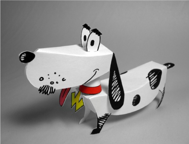 Blog Paper Toy papertoy Watusi pic Papertoy Watusi the Talking Dog