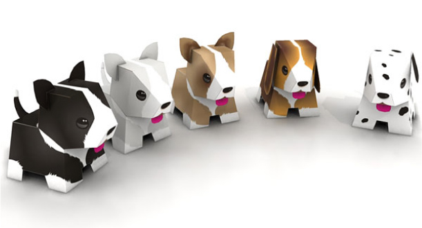 Paper Toy Blog papertoys papertoys Puppies puppies pic1 Julius Perdana