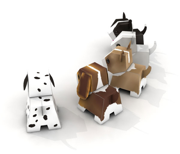 Paper Toy blog pic2 Puppies puppies papertoys papertoys Julius Perdana