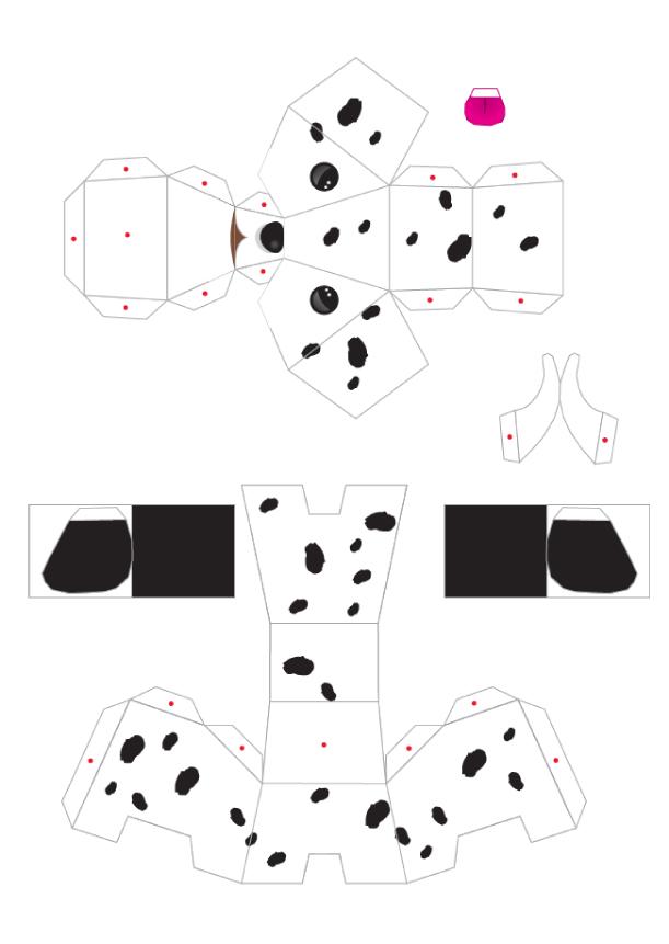 Как сделать из бумаги щенка