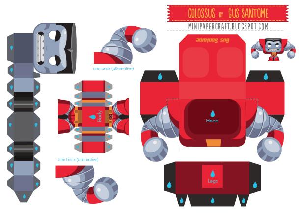 Papertoy Colossus De Gus Santome Paper Toy Fr