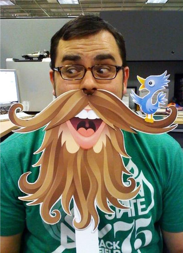 Blog Paper Toy paper mask twitter beard pic Twitter Beard by @vonster