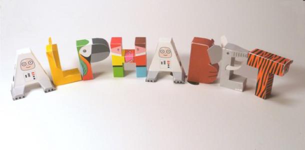 alphabet en papercraft paper. Black Bedroom Furniture Sets. Home Design Ideas