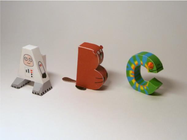 Blog Paper Toy papercraft Alphabet pic2 Alphabet en papercraft (x 26)