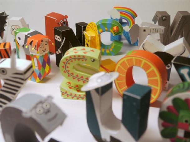 Blog Paper Toy papercraft Alphabet pic3 Alphabet en papercraft (x 26)