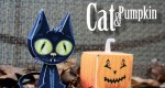 Cat and Pumpkin paper toys (x 2)