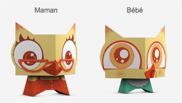 Blog Paper Toy papertoys Chouettes VVF pic1 Chouettes VVF en papertoys (x 4)