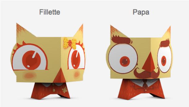 Blog Paper Toy papertoys Chouettes VVF pic2 Chouettes VVF en papertoys (x 4)