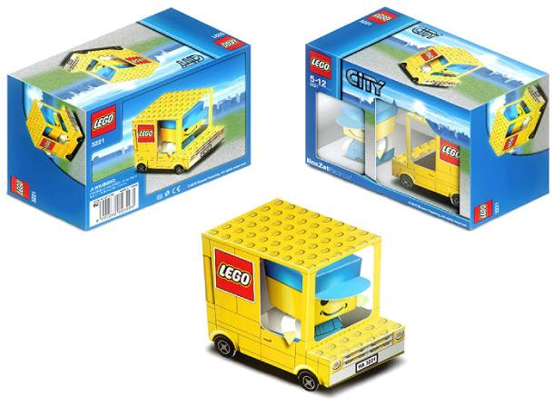 Paper model de un camión de Lego.