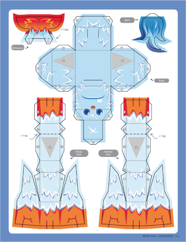 Blog Paper Toy papertoy Icy Huggy template preview Icy Huggy   le monstre des neiges