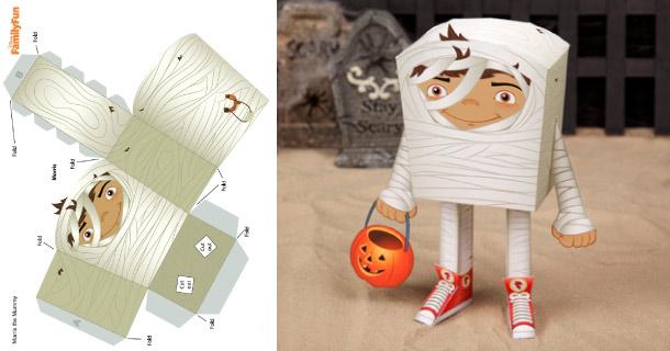 Blog_Paper_Toy_papertoy_Mummy_Halloween_Disney_Family