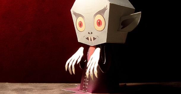 Paper model de Nosferatu el Vampiro. Manualidades a Raudales.