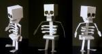 Squelette en papier pour Halloween