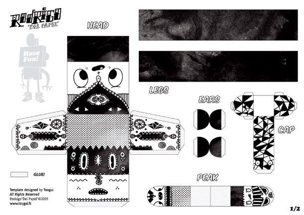 Blog Paper Toy papertoys Rodrigo Del Papel Aphte template preview Rodrigo Del Papel batch #1 (x 10)