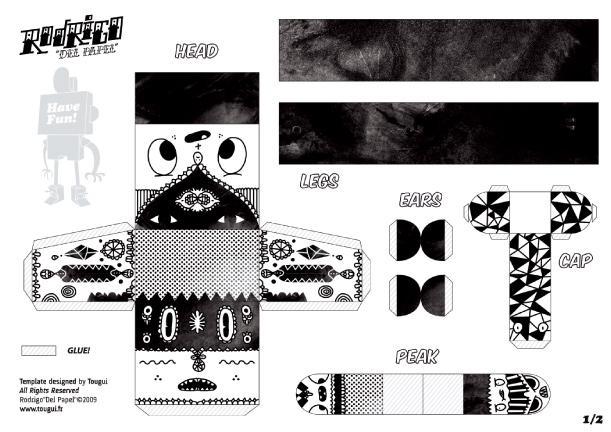 Blog Paper Toy papertoys Rodrigo Del Papel Aphte template preview Rodrigo Del Papel batch #1 (x 10)
