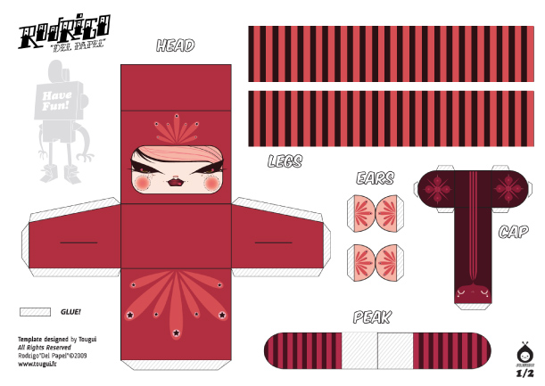 Blog Paper Toy papertoys Rodrigo Del Papel JulieWest template preview Rodrigo Del Papel batch #1 (x 10)