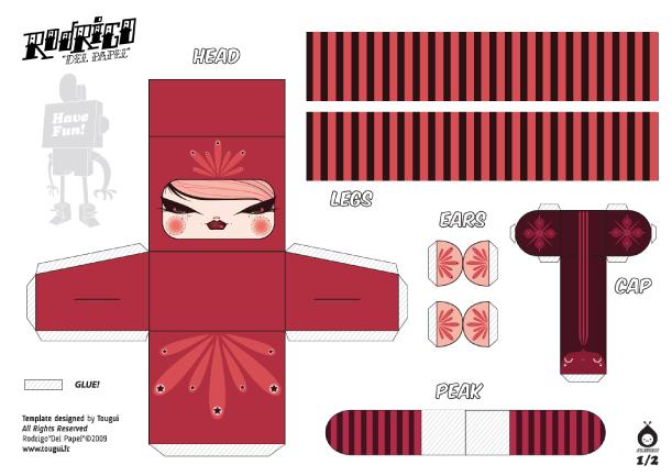 Blog Paper Toy papertoys Rodrigo Del Papel JulieWest template preview Rodrigo Del Papel batch #1 (x 10)
