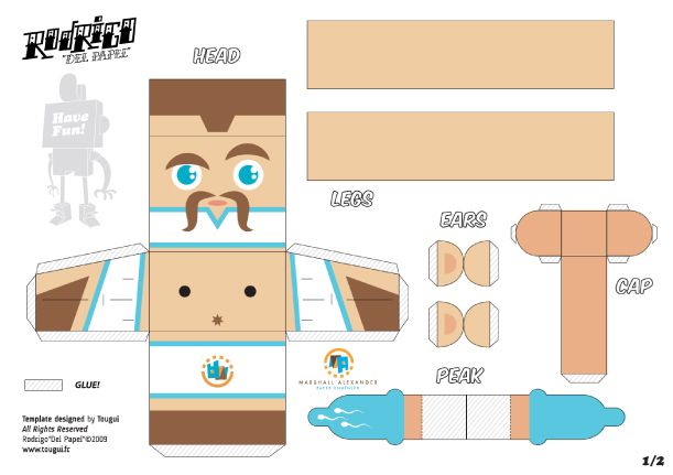 Blog Paper Toy papertoys Rodrigo Del Papel MarshallAlexander template preview Rodrigo Del Papel batch #1 (x 10)