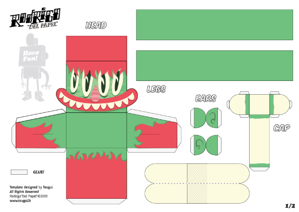 Blog Paper Toy papertoys Rodrigo Del Papel MattHawkins template preview Rodrigo Del Papel batch #2 (x10)