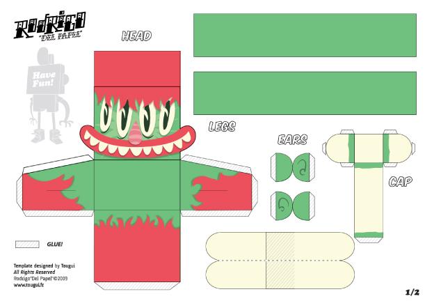 Blog Paper Toy papertoys Rodrigo Del Papel MattHawkins template preview Rodrigo Del Papel batch #2 (x10)