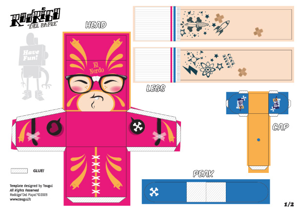 Blog Paper Toy papertoys Rodrigo Del Papel TokyoCandies template preview Rodrigo Del Papel batch #2 (x10)