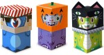 Trick-or-Treat Monsters papertoys (x 3)