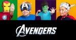 Masques en papier - The Avengers (x 4) 