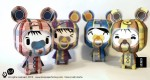 Papertoys &#039;toxic ketsuekigata&#039; by TPF (x4)