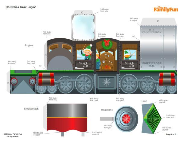 Как сделать поезд из бумаги