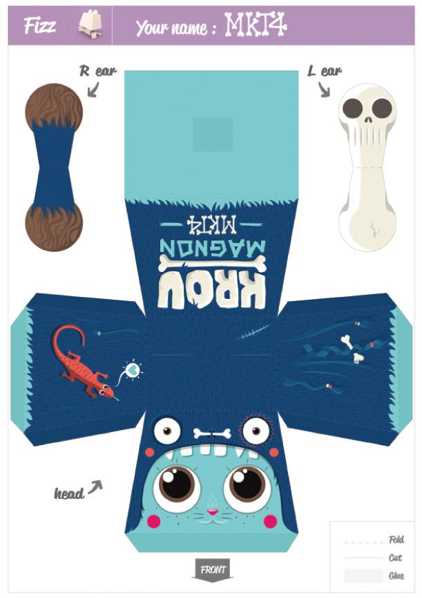 Blog Paper Toy papertoy Pepetz Krou template preview Pepetz Krou de MKT4