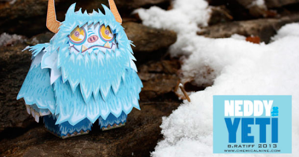 Blog_Paper_Toy_papertoy_Neddy_the_Yeti_Bratliff