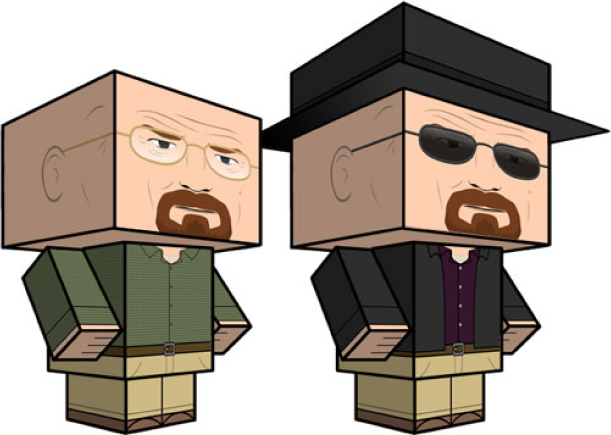 Blog Paper Toy papertoys Breaking Bad pic Cubeecraft Breaking Bad (x 2)