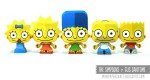 Papertoys Simpsons de Gus Santome (x5)