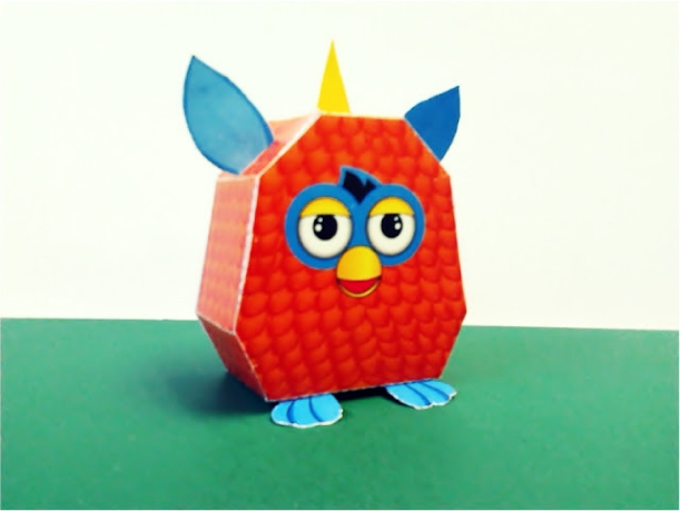 Blog Paper Toy papercraft Furby pic Papercraft Furby