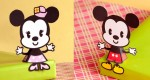 Cutie Mickey & Minnie papertoys (x 2)