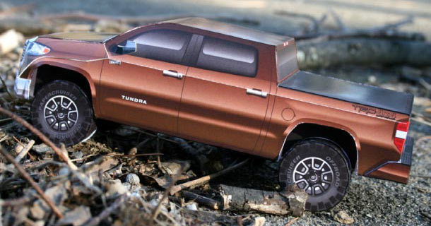 Papercraft del Toyota Tundra.
