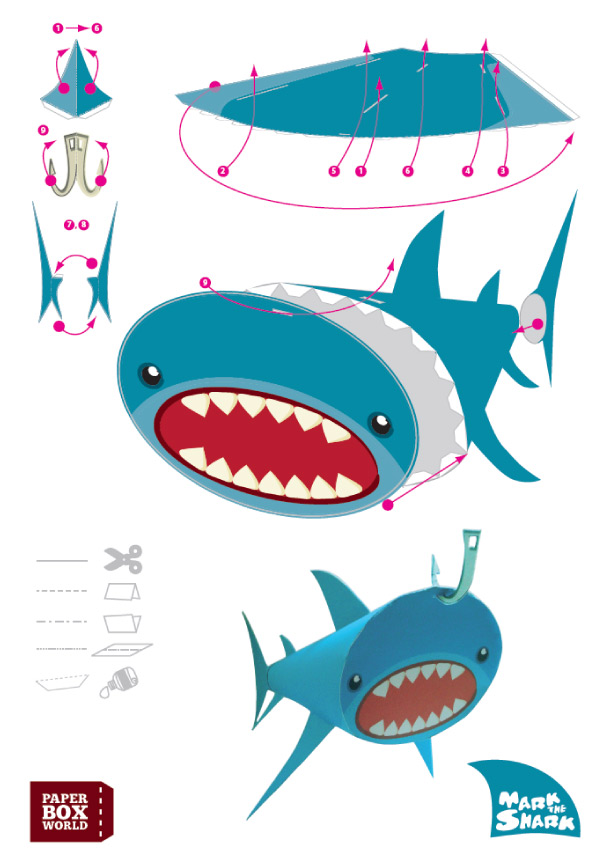 Shark Paper Toy : Moi moche mechant template search results calendar