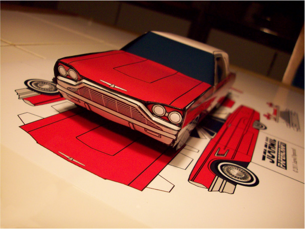 papercraft ford thunderbird 1965 paper. Black Bedroom Furniture Sets. Home Design Ideas