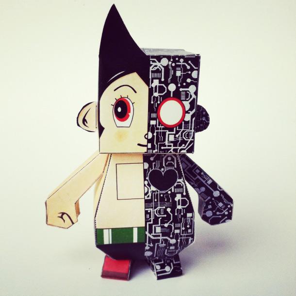 Boy Toys Template : Astro dumpy boy de dikids paper toy