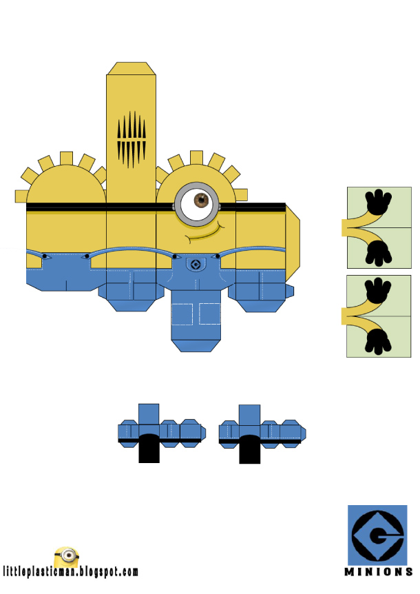 Papertoys Minions Paper Toy