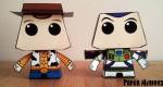 Woody & Buzz de Paper Minions