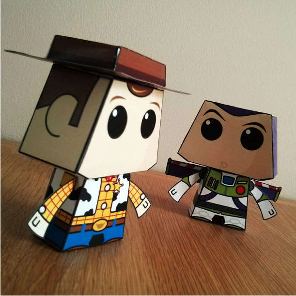 Blog Paper Toy papertoys Paper Minions Woody Buzz pic Woody & Buzz de Paper Minions