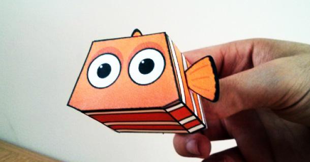 Papertoy Nemo De Paper Minions Paper Toy