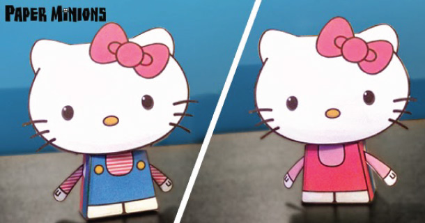 Blog_Paper_Toy_papertoys_Hello_Kitty_Paper_Minions
